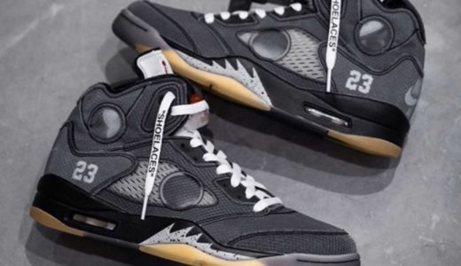 【2020/2/15(土)発売】OFF-WHITE x NIKE AIR JORDAN 5 RETRO SP