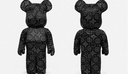 "【2020/7/23(木)まで抽選】CLOT x NIKE x MEDICOM TOY BE@RBRICK ""BLACK SILK"" 1000%"