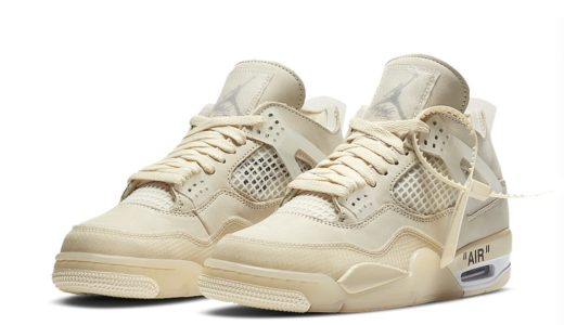 "【2020/7/25(土)発売】OFF-WHITE x NIKE WMNS AIR JORDAN 4 RETRO SP ""SAIL"""