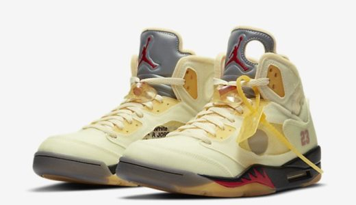"【2020/10/29(木)発売】NIKE x OFF-WHITE AIR JORDAN5 RETRO SP ""SAIL"""