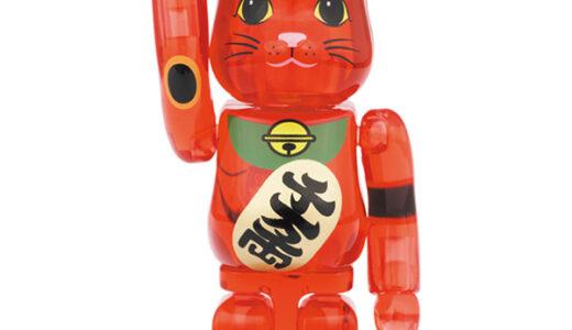 【2021/8/28(土)発売】BE@RBRICK 招き猫 梅透明 100% / 400%