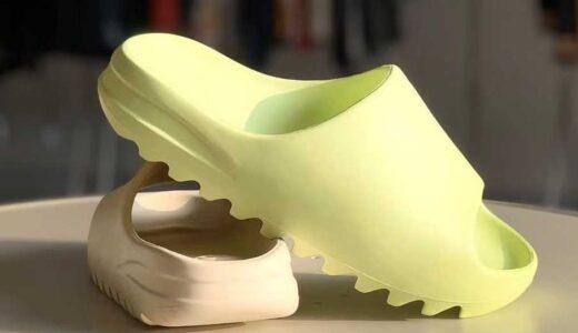 """【2021/9/6(月)発売】adidas YEEZY SLIDE """"GLOW GREEN"""" & """"SOOT"""""""